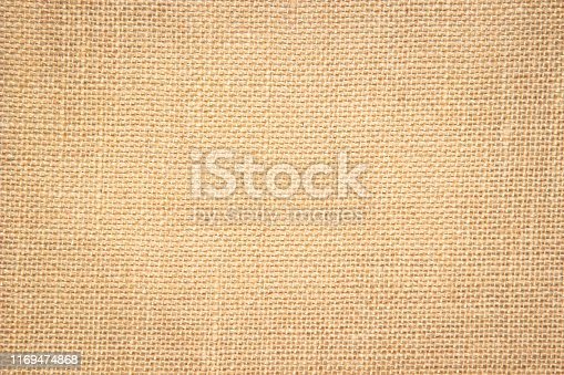 1044099896 istock photo Brown abstract sackcloth towel mock up template fabric on with background. Wallpaper of artistic wale canvas. Blanket or Curtain of pattern and copy space for text decoration. 1169474868