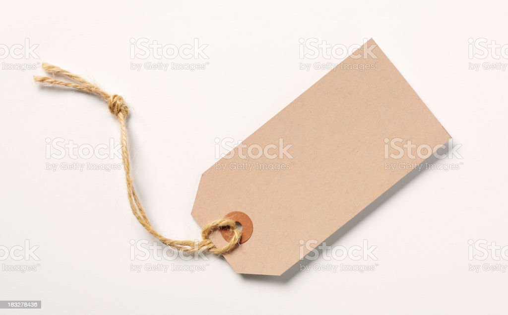 Brown Address Label stock photo