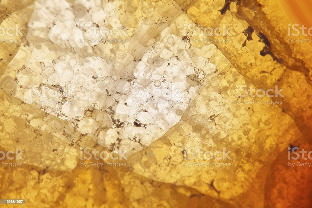 Brown agate crystal extreme macro royalty-free stock photo