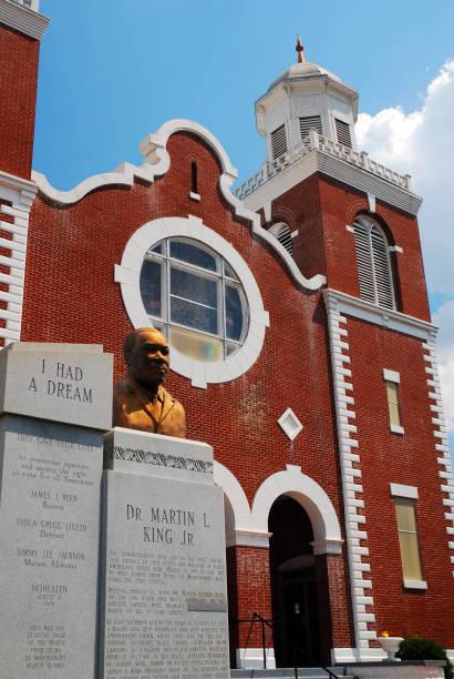 iglesia de ame marrón, selma, alabama - martin luther king jr day fotografías e imágenes de stock