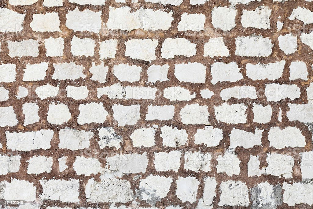 brown and white  artificial rugged rock wall background Croatia royalty-free stock photo