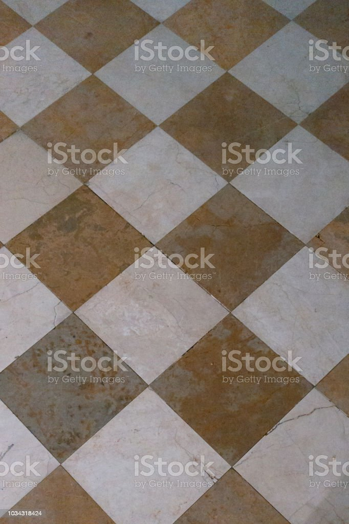 Brown And White Checkered Marble Floor Tiles Stock Photo Download Image Now Istock