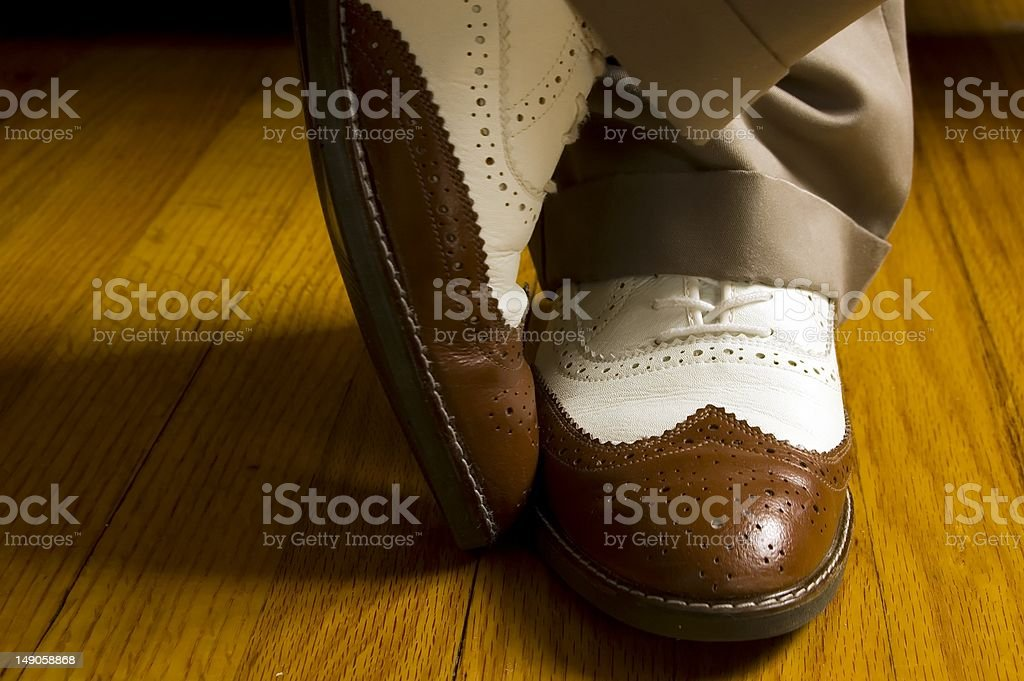 Brown And White Dance Shoes stock photo