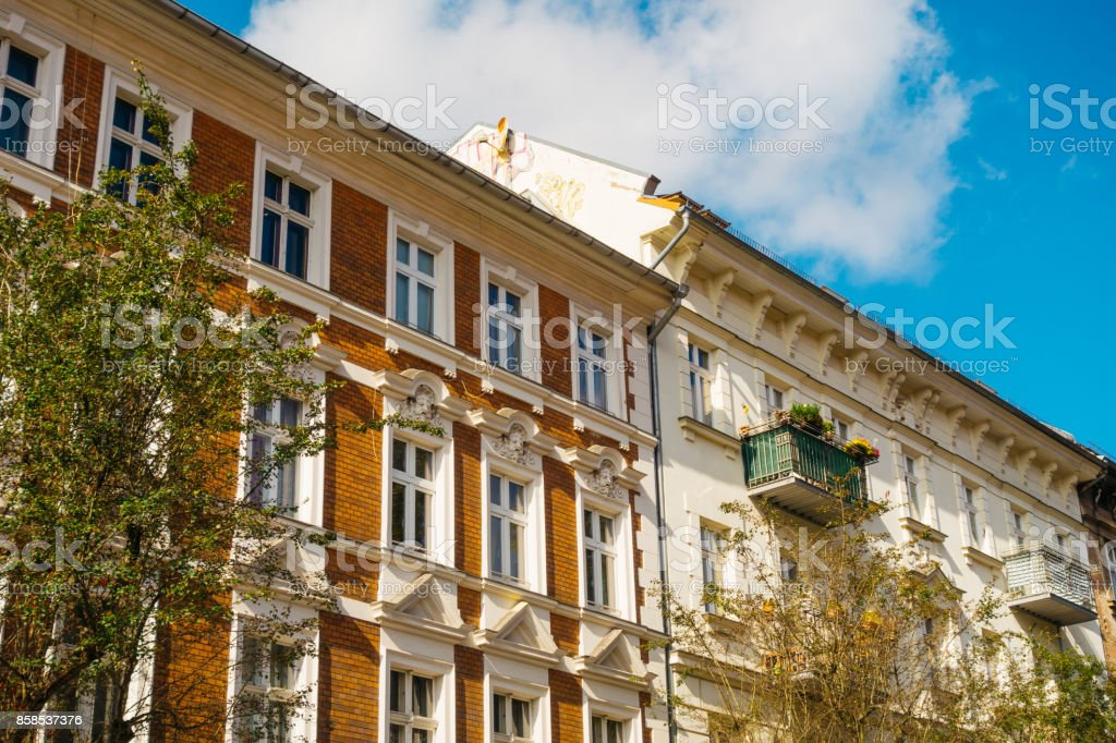 brown and white facaded houses stock photo