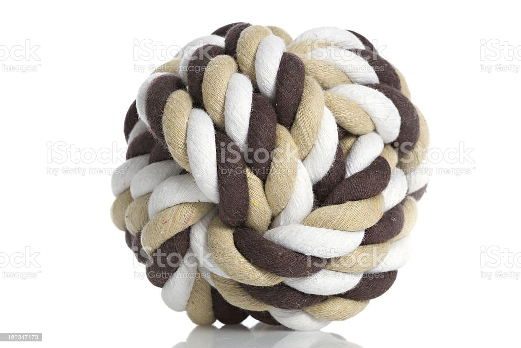 Brown and White knotted ball royalty-free stock photo