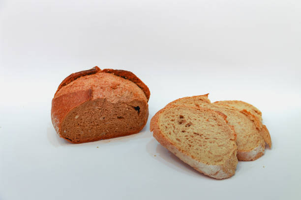 brown and yellow bread stock photo