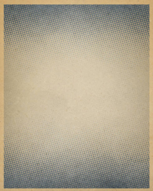 brown antique paper with halftone stock photo