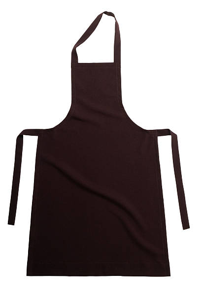 Brown apron stock photo
