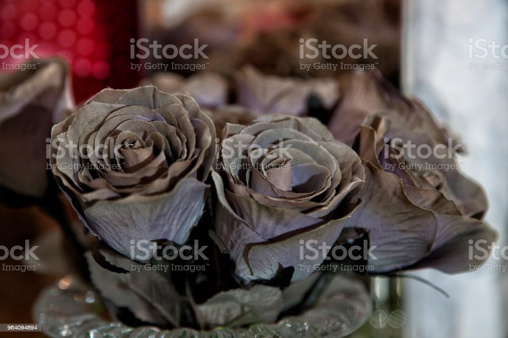 brown artificial roses - Royalty-free Artificial Stock Photo