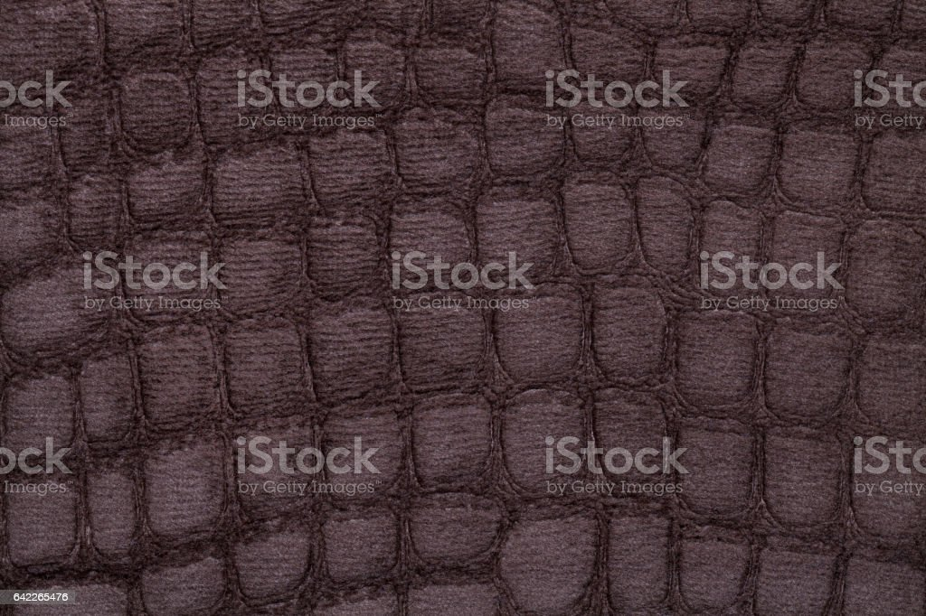 Brown background from soft upholstery textile material, closeup. stock photo