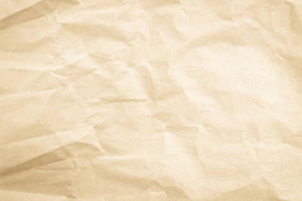 棕色背景紙, 褶皺紋理和水彩畫。舊的復古頁面與發光的中心和咕圓小插曲。 - 弄皺的 個照片及圖片檔