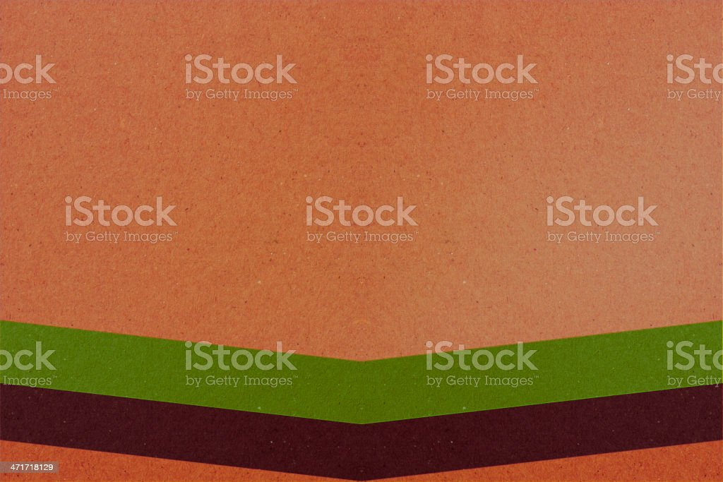 Brown background with two colorful lines royalty-free stock photo
