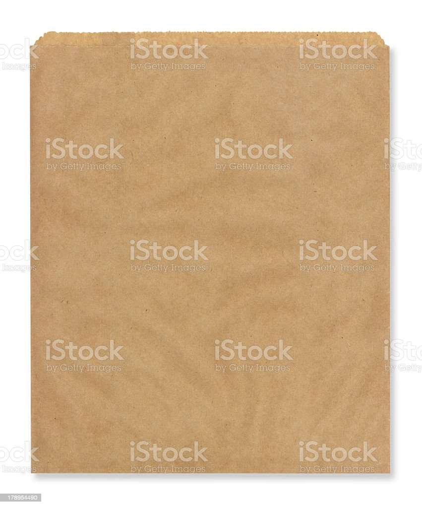 Brown bag over a white background royalty-free stock photo