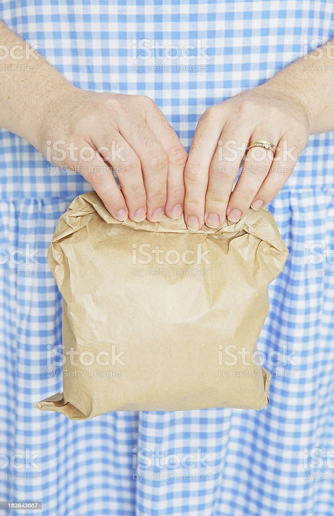 Brown Bagging It royalty-free stock photo