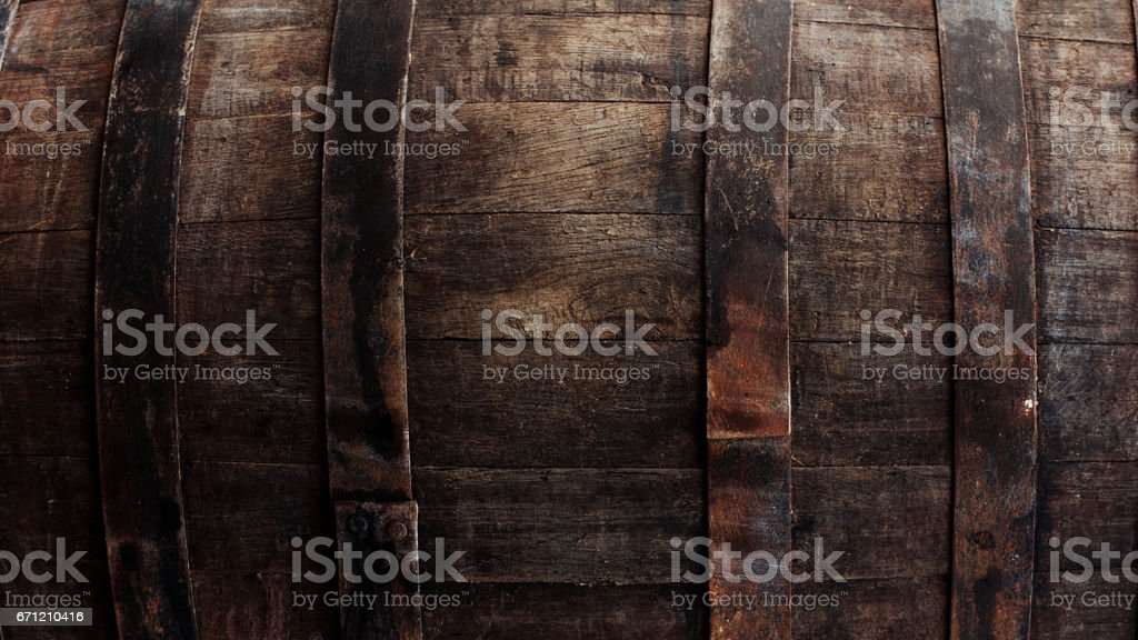 Brown barrel texture stock photo