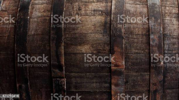 Dark brown barrel closeup