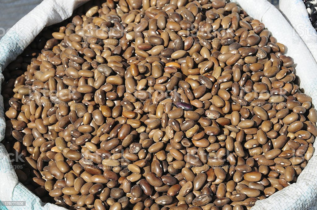 Brown beans royalty-free stock photo