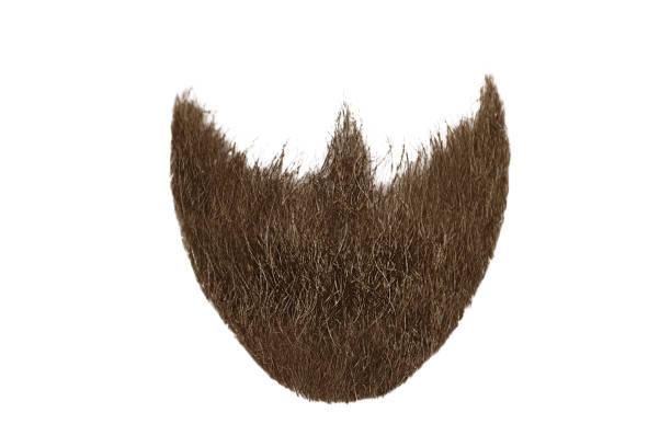 갈색 수염 흰색 절연입니다. mens 패션 - 턱수염 뉴스 사진 이미지