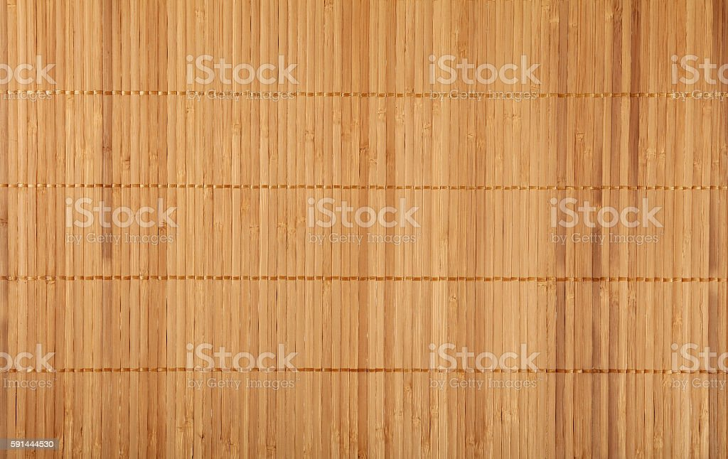 Brown beige bamboo wood mat background texture stock photo