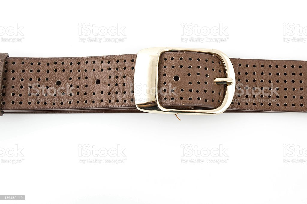 Brown belt for lady stock photo