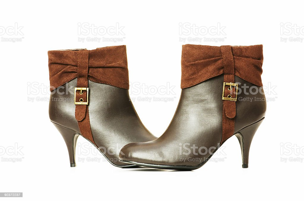 Brown boots isolated on the white background royalty-free stock photo
