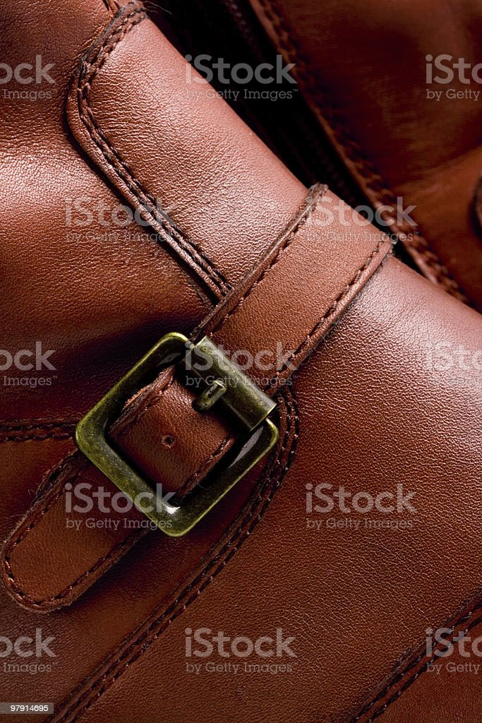 brown boots royalty-free stock photo