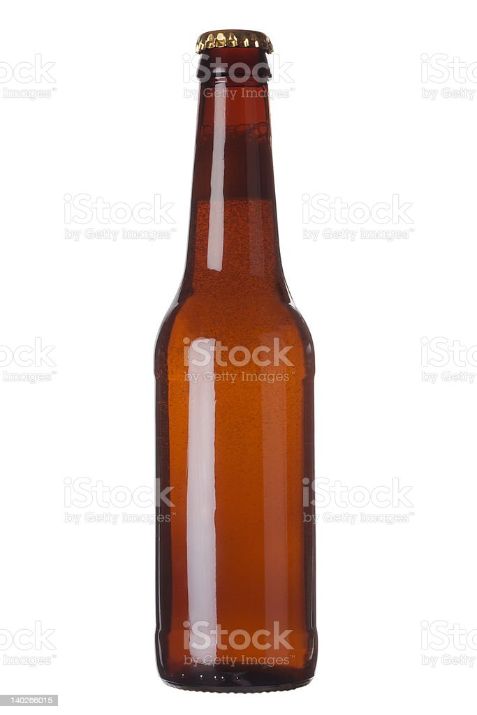 Brown bottle with liquid royalty-free stock photo