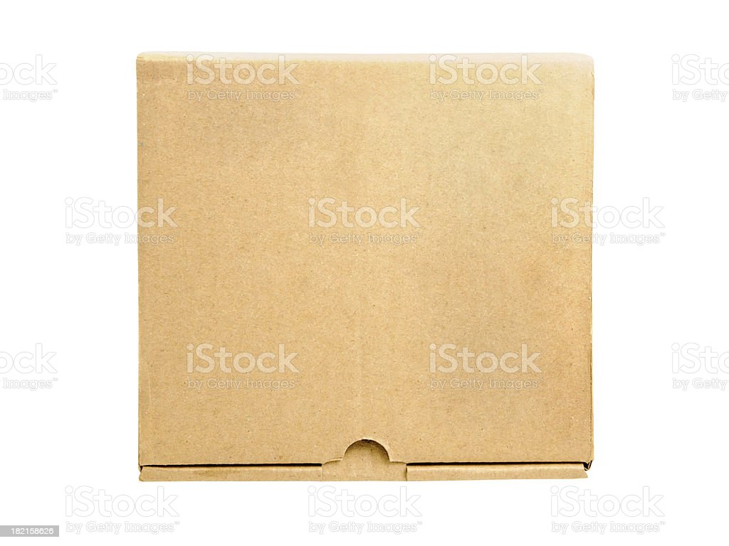 Brown box isolated stock photo
