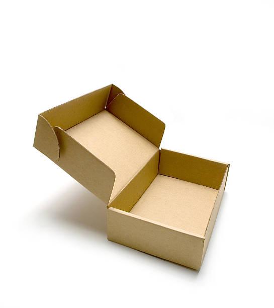 brown box - box falten stock-fotos und bilder