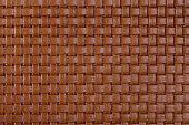 Brown braided leather texture