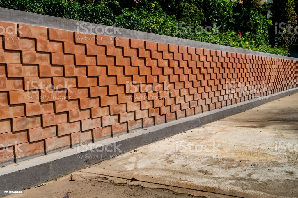 Brown Brick fence foto stock royalty-free
