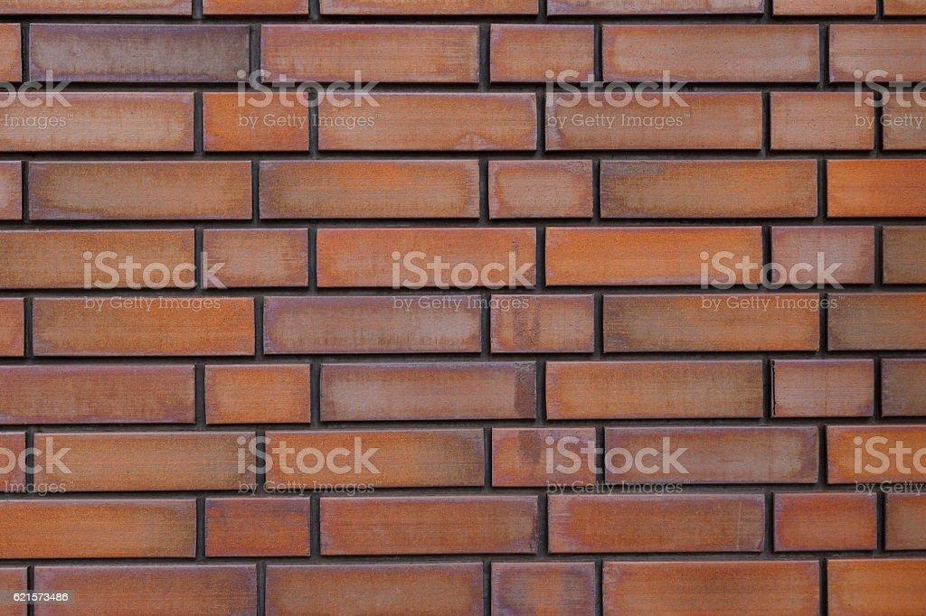 Marron brique mur de fond. photo libre de droits