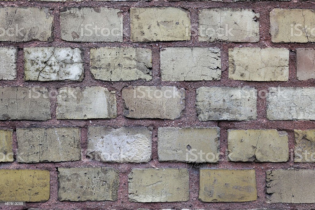 brown brick wall surface #2, plan view, overcast sky royalty-free stock photo