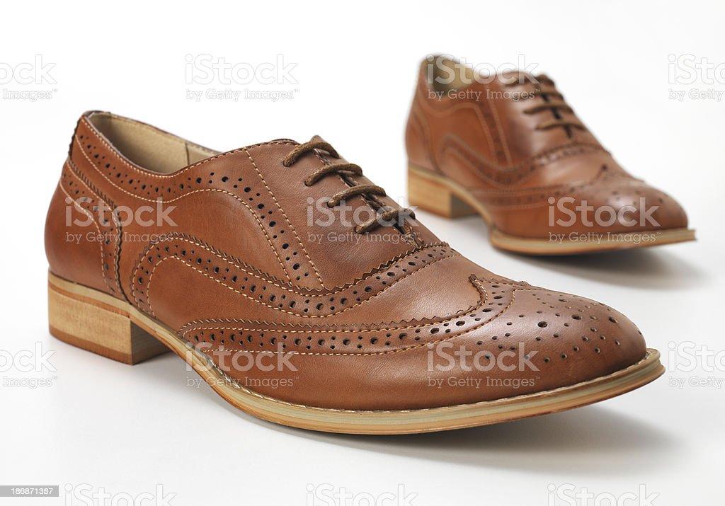 brown Brogues stock photo