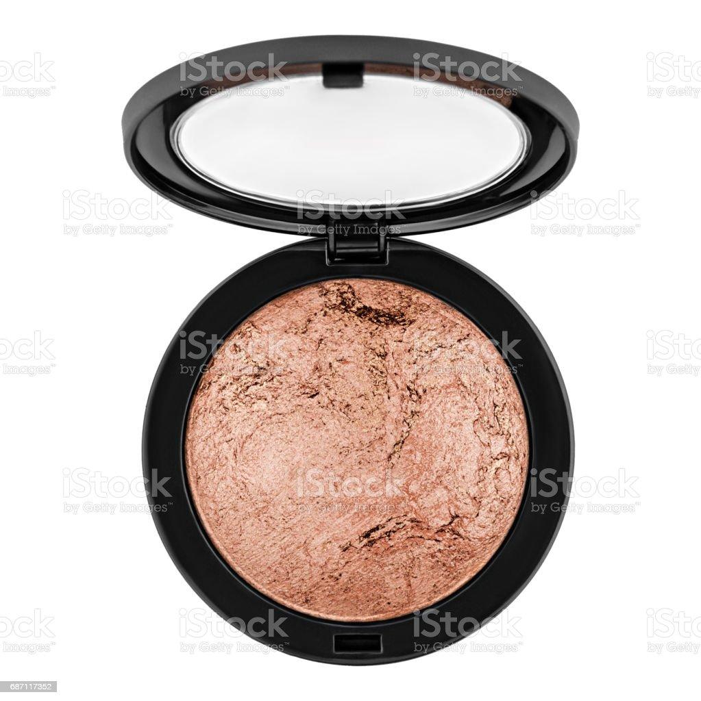 brown bronzer, powder stock photo
