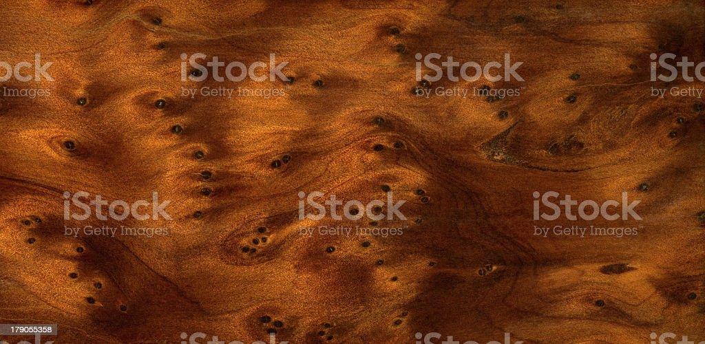 brown burl wood detail stock photo