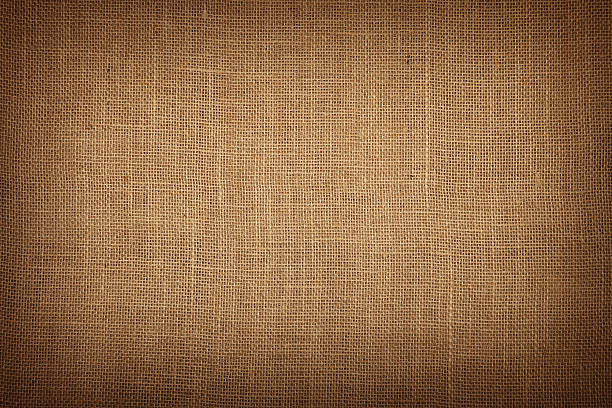 brown burlap jute canvas background with shade - sack stock pictures, royalty-free photos & images