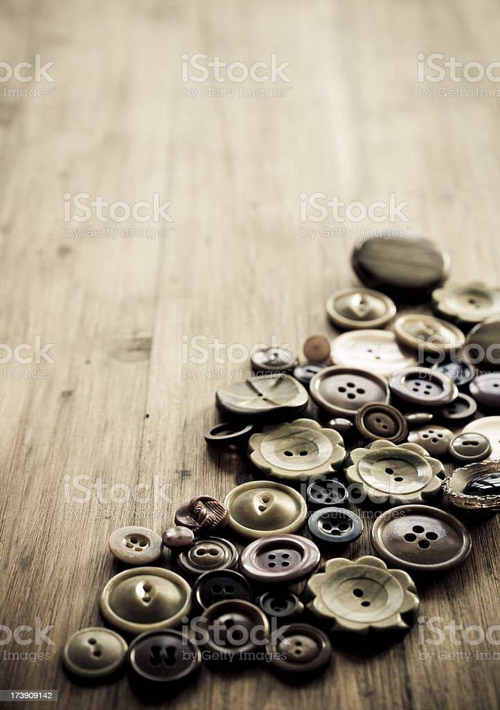 Brown buttons royalty-free stock photo
