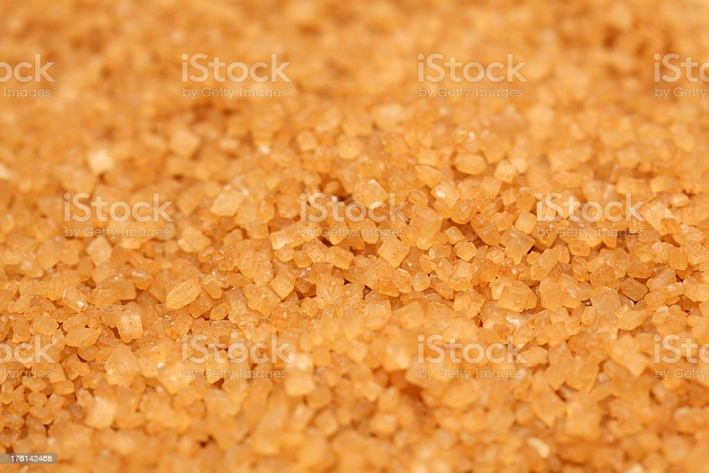 Brown cane sugar royalty-free stock photo