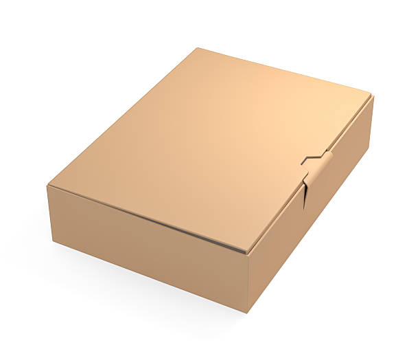 Brown cardboard box stock photo