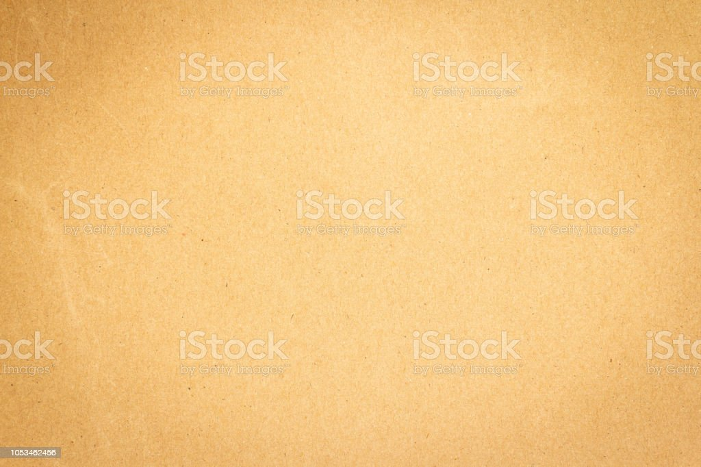 Brown cardboard paper texture and background stock photo