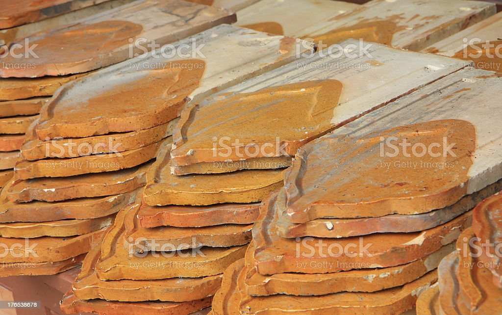 Brown ceramic for roof royalty-free stock photo