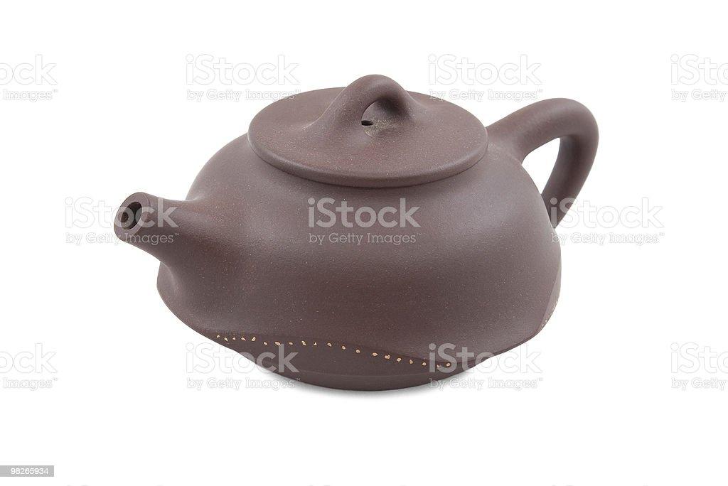brown ceramic teapot royalty-free stock photo