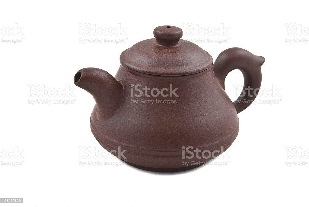 Ceramica Teiera con coperchio marrone foto stock royalty-free