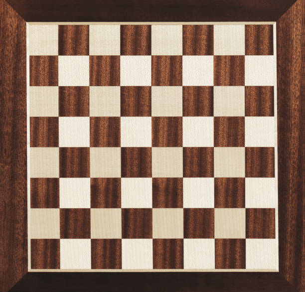 Brown checkered chessboard stock photo