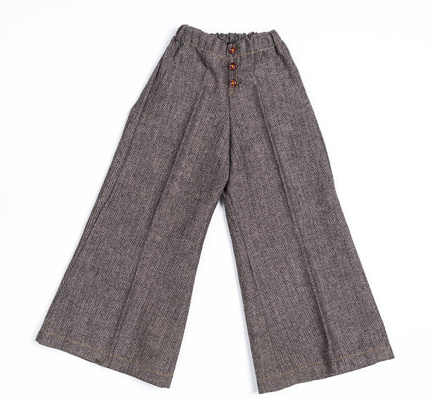 Brown Chidren's Pants on white background stock photo