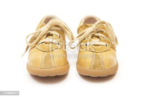 Baby shoes isolated on a white background.