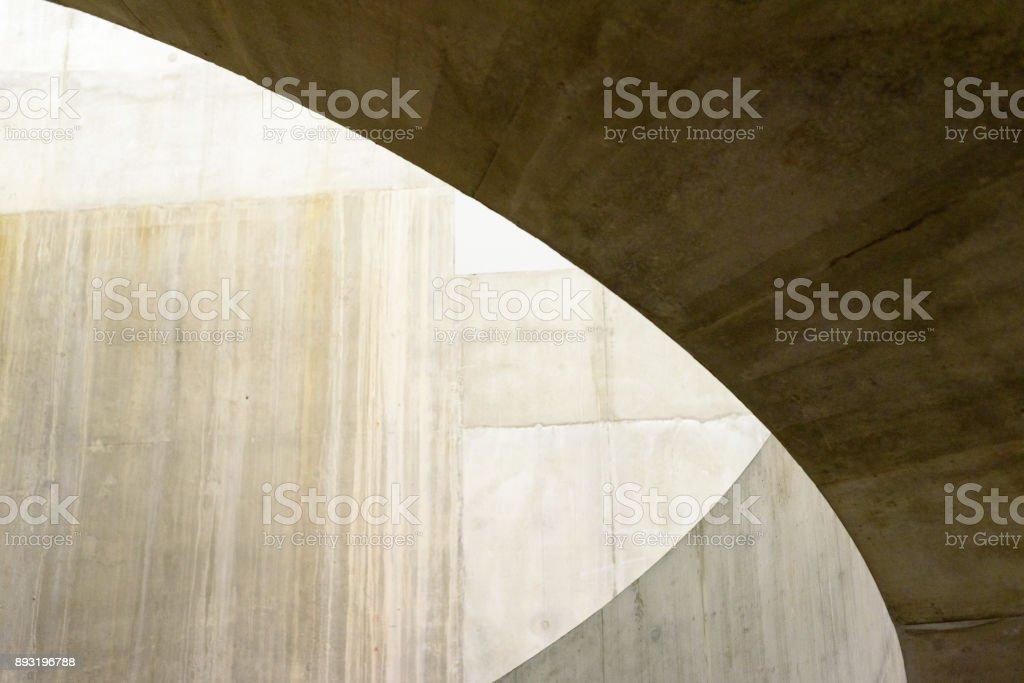 Brown Circle Shadow Building Abstract stock photo