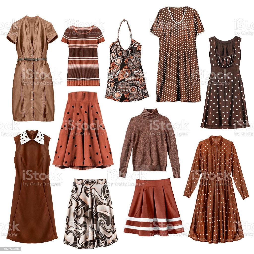 Brown clothes isolated stock photo