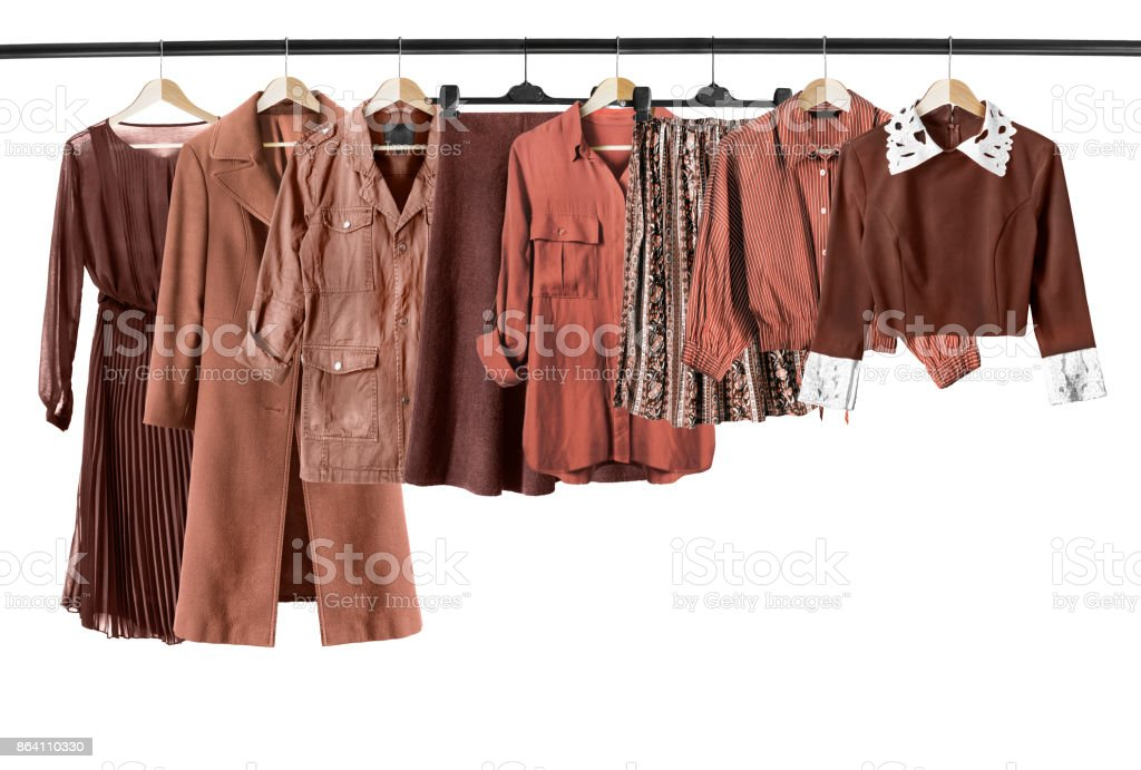 Brown clothes isolated
